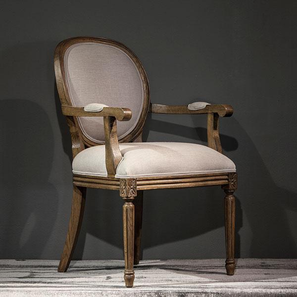 Burgundy Carver Dining Chair